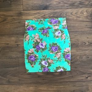 ✨Delia's Turquoise Floral Skirt Sz S NWT